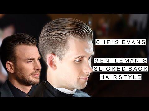 Chris Evans Hairstyle | Gentleman's Slicked Back Hair | Short Hairstyles For Men