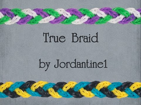 New True Braid Bracelet - Monster Tail or Rainbow Loom - Crossing Fishtail