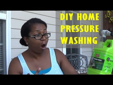 CLEAN WITH ME | DIY HOME PRESSURE WASHING | MOLD ARMOR E-Z HOUSE WASH