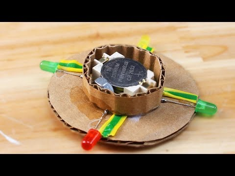 How to Make Cardboard YO YO with Glow Leds