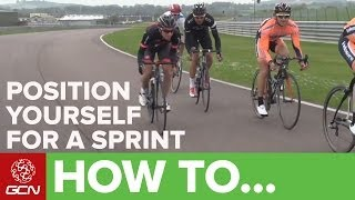 How To Position Yourself For A Sprint | Racesmart