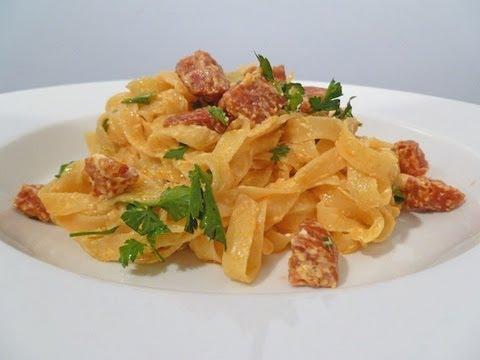 Chorizo & Cream Cheese Tagliatelle Cook-Along Video