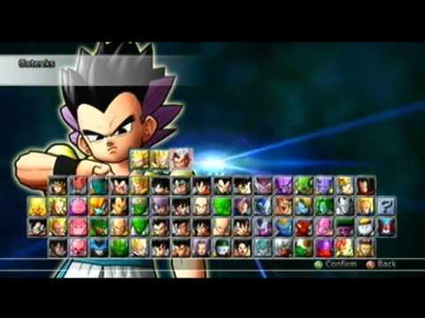 Dragon Ball Raging Blast 2 All Characters On Select Screen