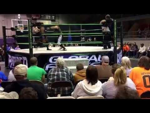 Monsters of Mayhem vs Pent House Players Global Force Wrestling Portland TN 12-10-16