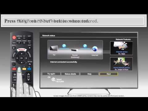 2014/2015/2016 Panasonic VIERA television - How to perform the first time set up.