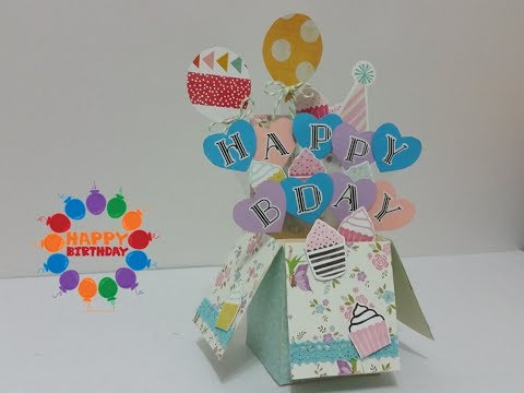 DIY#10: 3D How to make Happy Birthday Pop Up Box Card