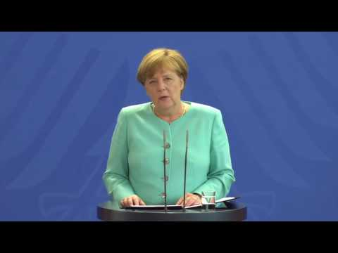 Angela Merkel  'We have to remain calm and composed'   BBC News