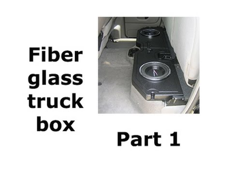 How to fiberglass a truck speaker box ( Part 1)