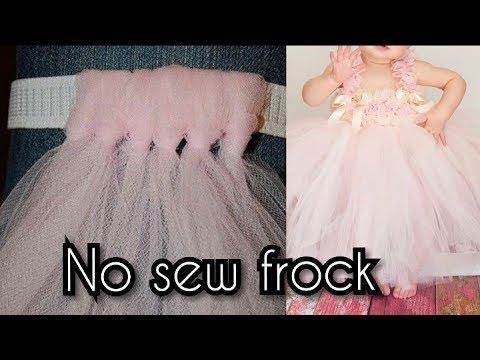 How to Make a Tutu Dress, Skirt Tutorial EASY! No Sew!