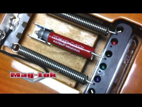 NEW Super-Vee Mag-Lok Tremolo Stabilizer Action