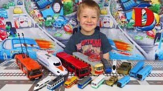 Download Городской транспорт и Поезда для детей / Развивающее видео про игрушки машинки. Железная дорога Video