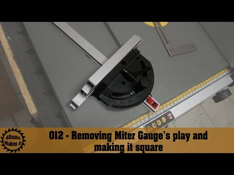 Removing DW745 Miter Gauge's play and making it square