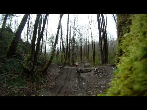 Scott on the Invergarry downhill jumps in Surrey