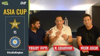 Wasim Akram and Mohammad Azharuddin dissect India