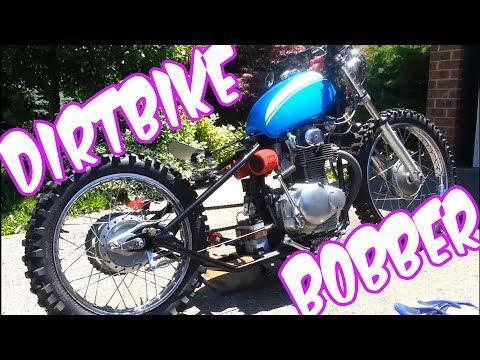DIRT BIKE BOBBER - START UP & RIDE