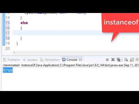 78. instanceof keyword in java