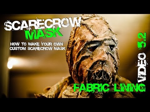 5.2 How to Make Fabric Lining for your Custom Scarecrow Mask from Batman