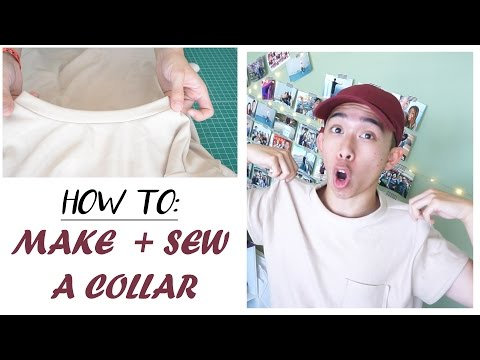 How to sew & make a t-shirt collar  ✁