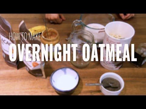 How to Make Overnight Oatmeal: Peanut Butter, Banana and Chocolate Overnight Oats
