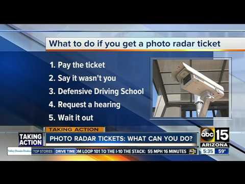 Photo radar tickets: what can you do?
