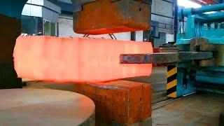 HYPNOTIC Video Forging Factory Steel Hydraulic Pneumatic Hammer Mega Machine Steelworks
