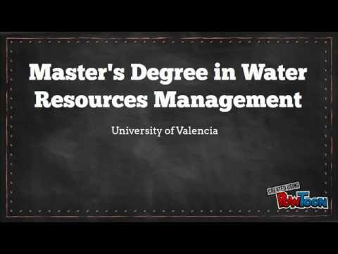 Find out our Study Plan - Master's Degree in Water Resources Management