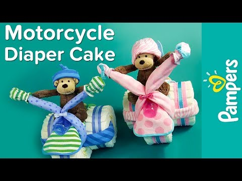 Motorcycle Diaper Cake Instructions | Pampers DIY Diaper Cake Ideas