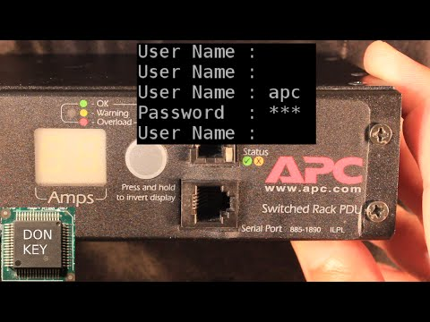 APC PDU #3 Howto reset the password under linux and windows step-by-step
