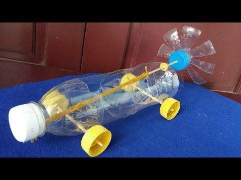 Cara Membuat Mobil botol plastik Karet Bertenaga
