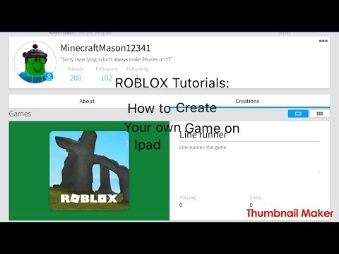 ROBLOX on ipad: how to create your own game