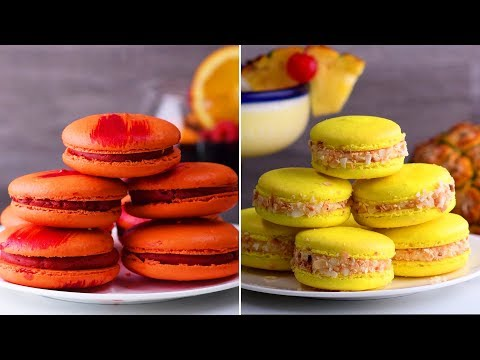 6 Way Yummy Macarons Recipe Easy | Learn How to Bake Delicious French Macarons | DIY Dessert Ideas
