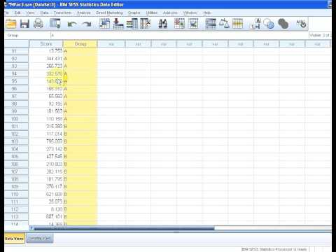 SPSS Independent samples medians test