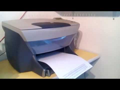 printer will only print half of the document and then stops - HP PSC 950