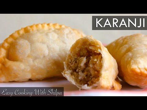 How To Make Gujiya / Karanji | Holi Special Gujiya Recipe | EasyCookingWithShilpa