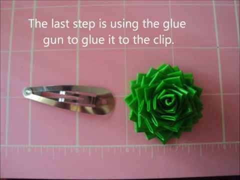 How to make Duct Tape Rose Hair Pins