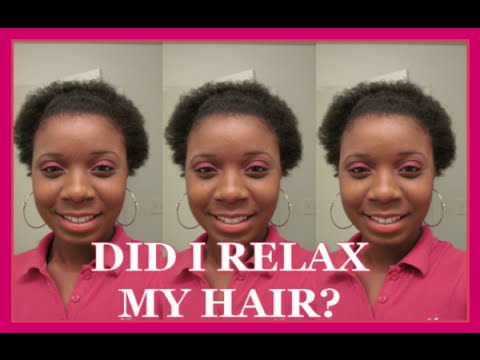 I RELAXED MY HAIR! - Hair Update #1 💇