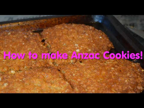 How to make Anzac Cookies/Biscuits