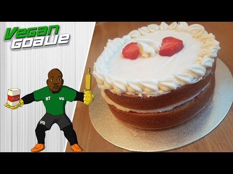 Easy Vegan Victoria Sponge Cake