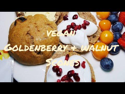 Vegan Goldenberry & Walnut Spelt Scones Recipe MUST SEE