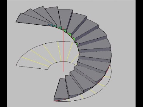 Autocad | How to create circular stair in autocad.