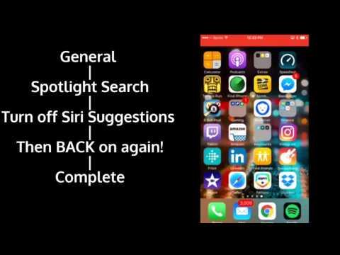 IOS 10 Spotlight Search Clear