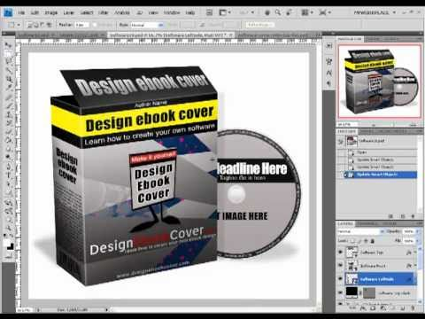 Learn how to design 3D software cover by yourself