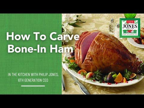 Ham Carving Instruction - Bone-in Ham
