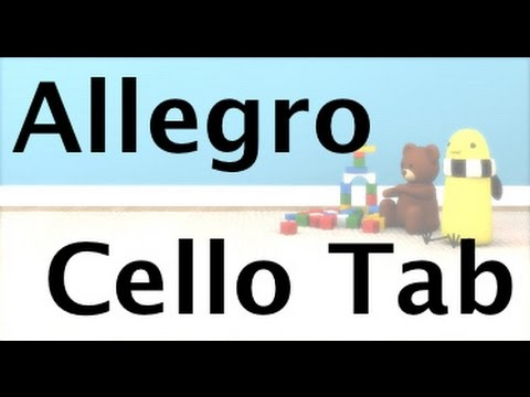 Learn Allegro by Suzuki on Cello - How to Play Tutorial