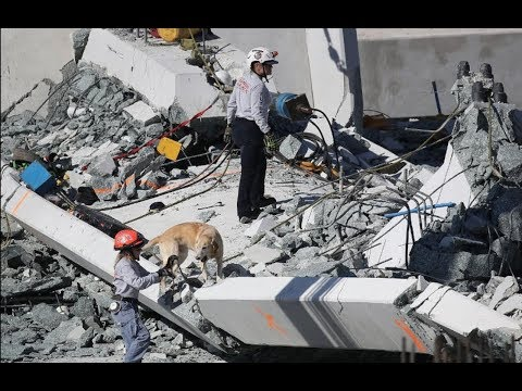 FIU Bridge Collapse node WAS jackhammered Blister Bar with a load path conflict video?