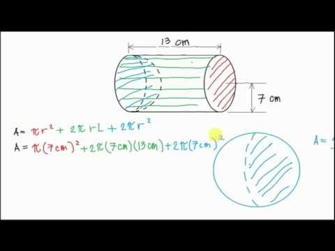 Finding the Surface Area of a Cylinder with Hemisphere Cut Out From One Side