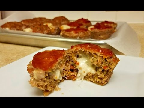 MEATLOAF Muffins Recipe -Cheese stuffed Turkey Meatloaf Muffins