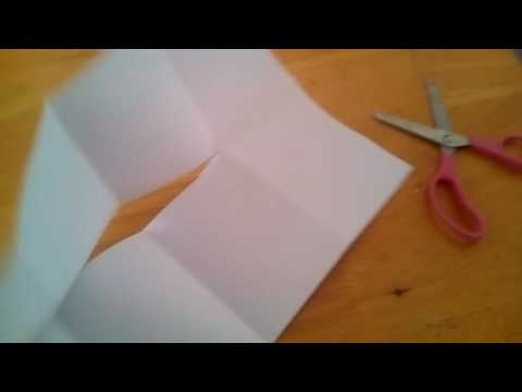 How to make an 8 pages book (paper and sisors)
