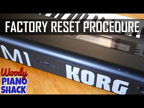Korg M1 reset | Restore factory sounds