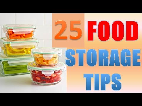25 Brilliant Food Storage Tips